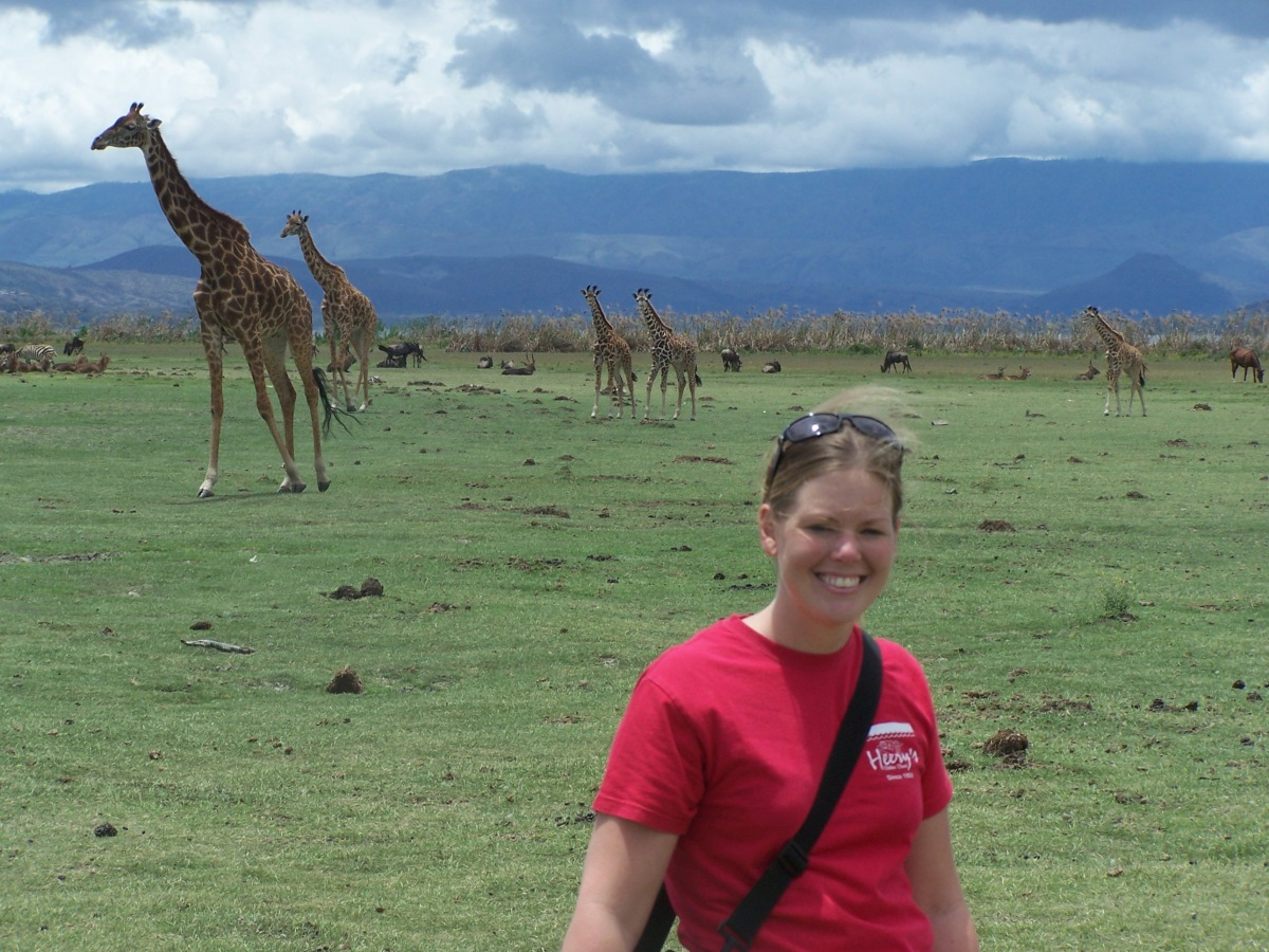 Jess and a herd of Giraffe...
