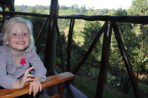 Soph enjoying the vierw from our cottage...