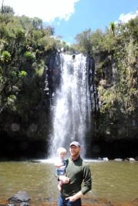 Daddy and Ethan at Marura Falls...