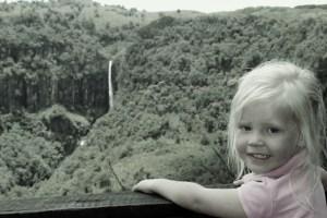 Sophie looking at Gura Falls...