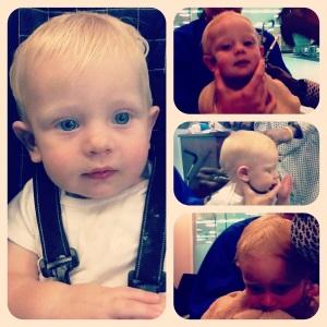 1st haircut...