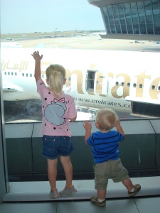 Waiting for the flight, watching planes land...