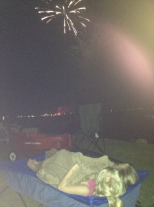 Watching fireworks on July 4th at White Lake...