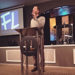 Speaking at Freedom Life Church Charleston.