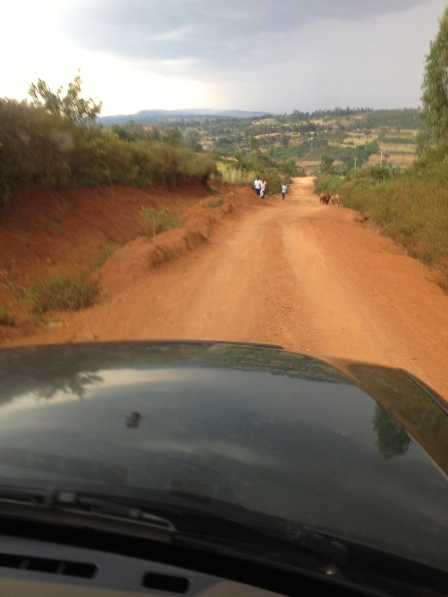 The road from Rangwe...